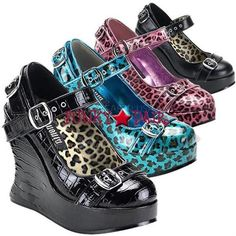 The blue leopard ones! The pink leopard ones, too!