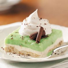 Holiday Pistachio Dessert Recipe from Taste of Home