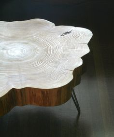 nimbus cloud coffee table - live edge with mid century modern hairpin legs, by birdloft, $800.00