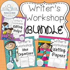 Writers Workshop Papers, Ideas, and Editing BUNDLE from Rebecca Reid's Line upon Line Learning on TeachersNotebook.com -  (30 pages)  - Get your writer's workshop ready for writing with this bundle of writing papers (with a variety of spacing options), an editor's marks page, and 15 different blank brainstorming idea organizers!