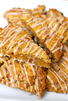 Double Glazed Pumpkin Scones  --