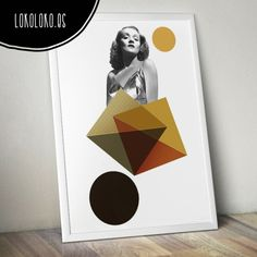 #Postervintage con diseño geométrico