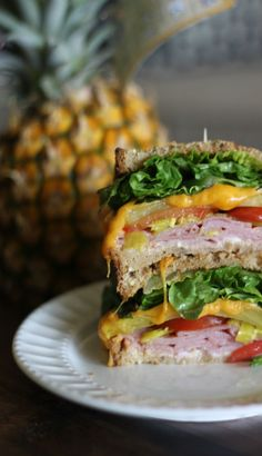 Grilled Pineapple & Ham Sandwich