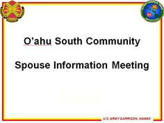 Check out the slides from this month's South Spouse Information Meeting!