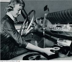 """The Car Record Player.   """"These players used a different kind of a record, that would play at a different speed than the regular singles or albums. While singles played at 45 rpms (revolutions per minute), and albums played at 33 and one third  rpms, ( I won't get into the old 78 rpm records) the car record player ran at 16 and two thirds rpms. This allowed the record to play for about an hour."""""""