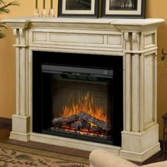 Electric fireplace fireplace mantels, parchment electr, electr fireplac, kendal parchment, mantel packag, electric fireplaces, beauti fireplac, fireplac mantel