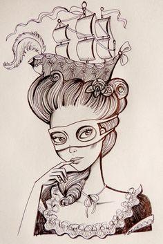 Marie-Antoinette Sketch