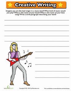 Creative Writing Prompt Worksheet