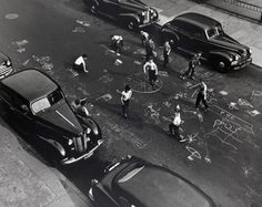Chalk Games, Prospect Place, Brooklyn  1950  arthur leipzig