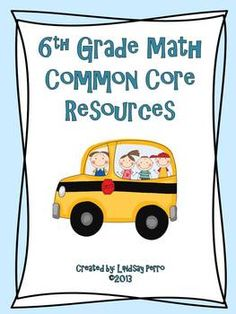 This resource has just about everything you will need to have a great Common Core Math Classroom! Includes all 11 of my 6th grade CCSS resources. Standards posters, assessments, checklists, vocab... lots of great stuff!