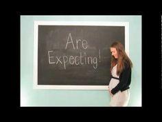Video creativo para anunciar el sexo del bebé