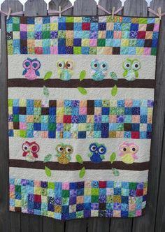 Cute owl quilt