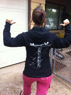 Picked this up from livebytheline.com at a lineman's rodeo. Love it! lineman rodeo, lineman wife, lineman love