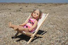DIY Fold-able beach chair for American Girl Doll DIY Dollhouse DIY Toys DIY Crafts