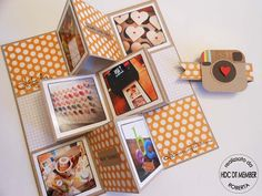 """Minialbum: """"Instagram mania!"""" transforms into a mini multi-photo frame (multiple photos)"""