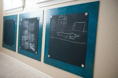 Chalkboards for the kids rooms.