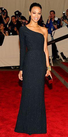 Zoe Saldana - Met Gala 2010 in Calvin Klein Collection