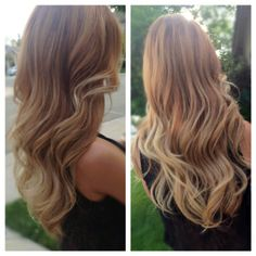 Honey to Pearl- Blonde Ombre, wavey hair, beach waves by AJ Lashmett
