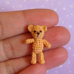 EEK!  SO TINY! Amigurumi Crochet Tutorial Pattern Miniature Orsino Bear.