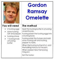 Gordon Ramsay F*%$#@N' Omelette.