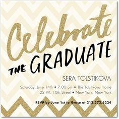 Sheer Brilliance - Graduation Invitations - Petite Alma in neutral and glimmery tones.