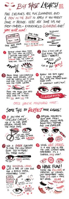 cute step-by-step guide for falsies!