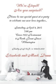 Reception Invitations After Eloping with nice invitations ideas