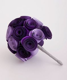 Minimalist Purple Paper Wedding Bouquet