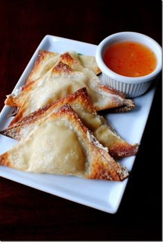 Baked Crab Rangoon. Very creamy and delicious. Saves on calories too because it is baked.