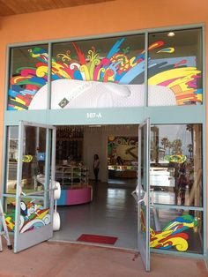 Store Entrance Window Graphic for Haivanas Store in Huntington Beach, CA.