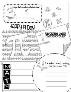 Here's a pi day page for students. This can also be used as a classroom poster.