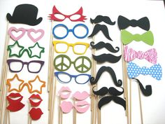 Photo Booth Party Props - The ULTIMATE Collection 1 -  30 piece set - Photobooth Props