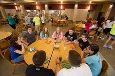 As the new addition to the Natali Student Center takes shape, the all-you-care-to-eat Gold Rush dining facility has moved to the newly renovated Gallagher Dining Hall.  Gallagher Hall was the University's main dining location from 1966-1998, when food service operations moved to the Natali Student Center.
