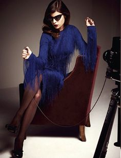 Julia Restoin Roitfeld models Tom Ford's debut womenswear collection