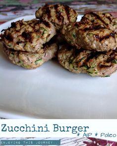 Zucchini Burger   Enjoying this Journey...