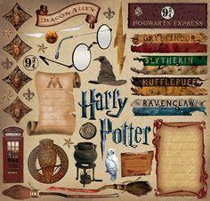 scrapbook harry potter, harri potter, scrapbooking, stuff, sunshin scrapbook, stickers, hogwart, homes, cardstock sticker