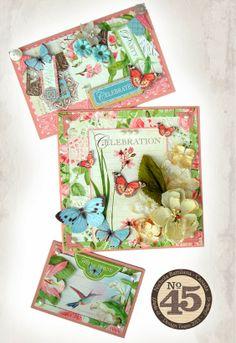 Trio of Botanical Tea cards - Nichola Battilana