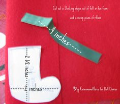 Doll Craft How to Make A Doll Sized Stocking
