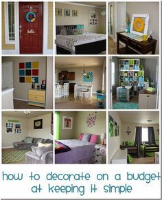 How to decorate on a budget. Home tour of a house where most of the decor is either made, painted or found from a garage sale #pickyourplum #vinyl #homedecor #hometour #keepingitsimplecrafts