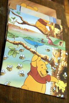 Winnie the Pooh Childrens Book Recycled Envelopes $4 ... Recycling book pages to make envelopes..! Do-able? Hmm.. :)