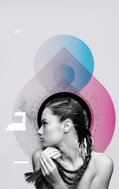I really like the rain drop shapes here in the design, also the pink and blue complements each other well, but the left side of the image is weak.