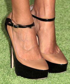 Jimmy Choo nude/black heels