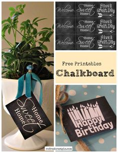 Free Chalkboard Prin