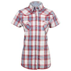 Roper Women's Plaid Short Sleeve Western Shirt