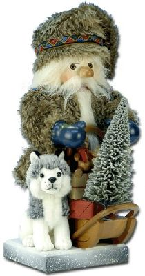 Klondike Santa Nutcracker w/Husky