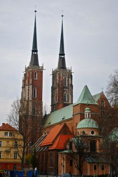 Cathedral Towers Wroclaw, Poland
