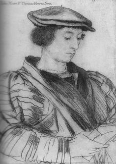 A sketch of John More, Sir Thomas More's son. By Hans Holbein the Younger.