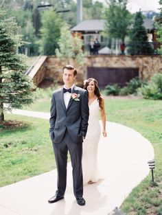 Love First Looks! Photography: Sarah Joelle Photography | See more of the wedding on SMP: http://www.StyleMePretty.com/2014/03/18/elegant-aspen-wedding-with-boho-flair/