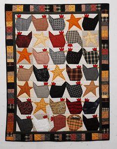 patchwork, sew, craft, chicken quilti, stuff, quilt patterns, star quilts, black hen, quilt chicken