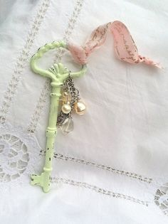 Farmhouse Shabby Chic Skeleton Key. $12.00, via Etsy.